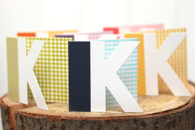 mini monogrammed notecards