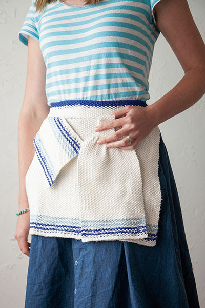 Ombre Sea Kitchen Set -  Free Knitting pattern