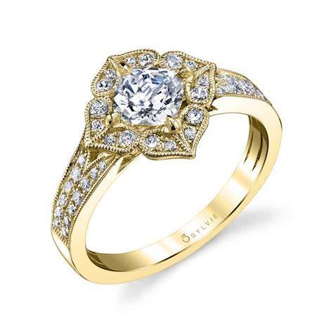 Julia   Flower Inspired Halo Engagement Ring   S1348