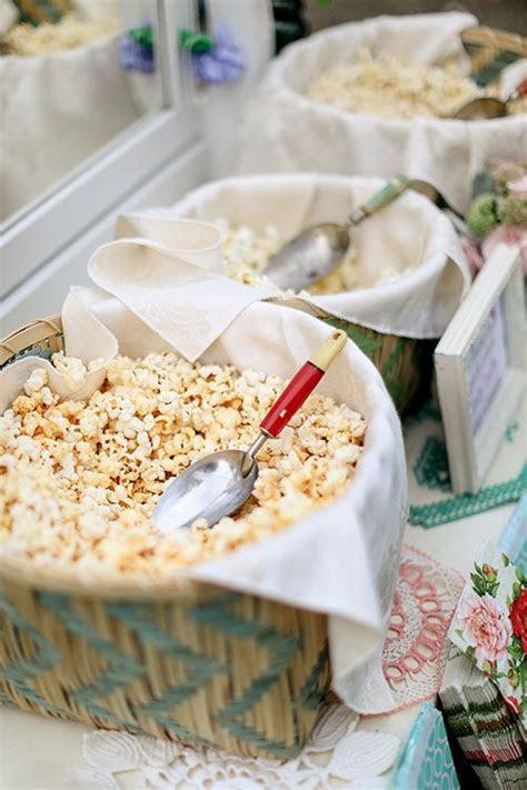 Unique wedding reception ideas on a budget   Popcorn 1