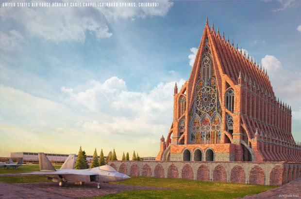 American Gothic: 8 American Buildings If They'd Been Built Gothic-Style