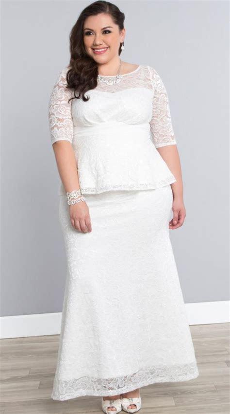 White plus size wedding dress   PlusLook.eu Collection