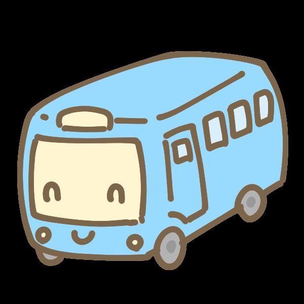 かわいいバスのイラスト かわいいフリー素材が無料のイラストレイン