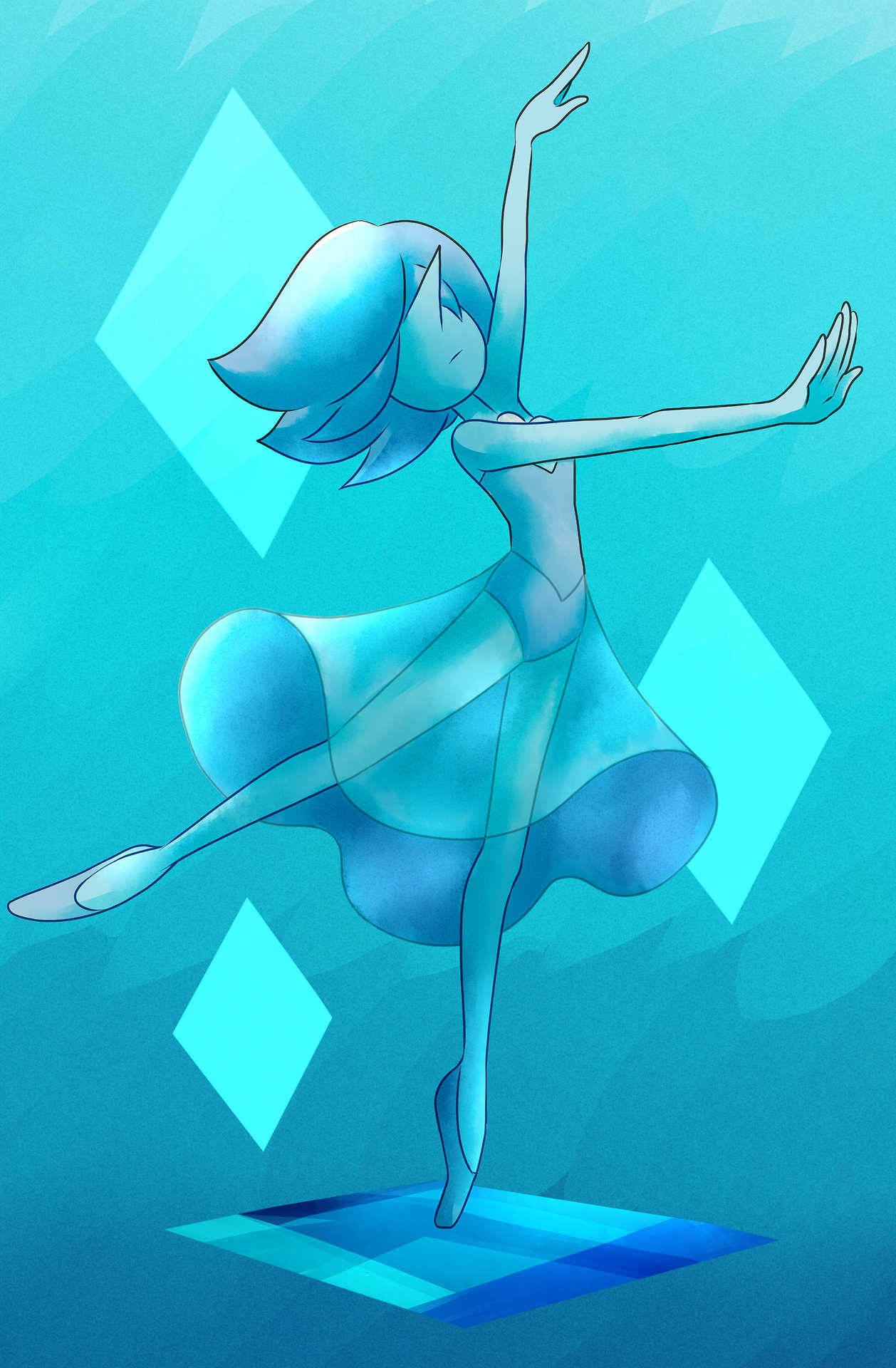 Blue Pearl digital commission All commission prices and info and be found HERE.