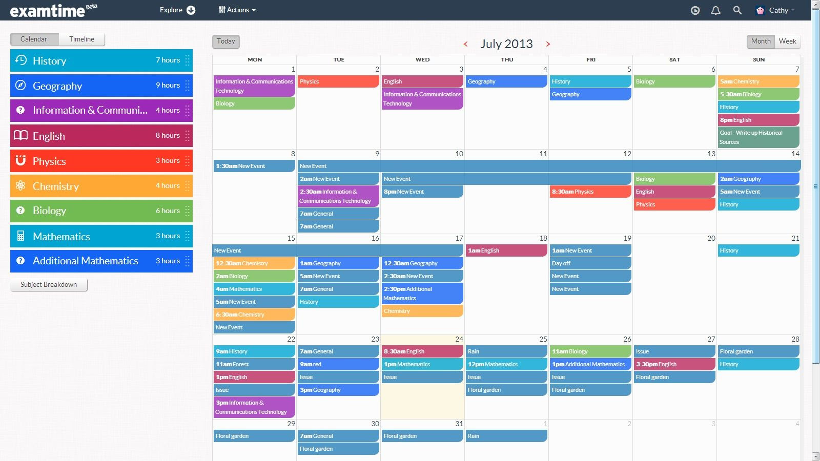 1000+ images about Creating a Study TimeTable on Pinterest ...