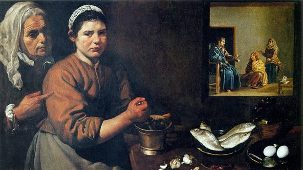 Jesús en casa de Marta y María de Velázquez