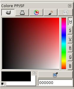 La finestra di dialogo Colore PP/SF