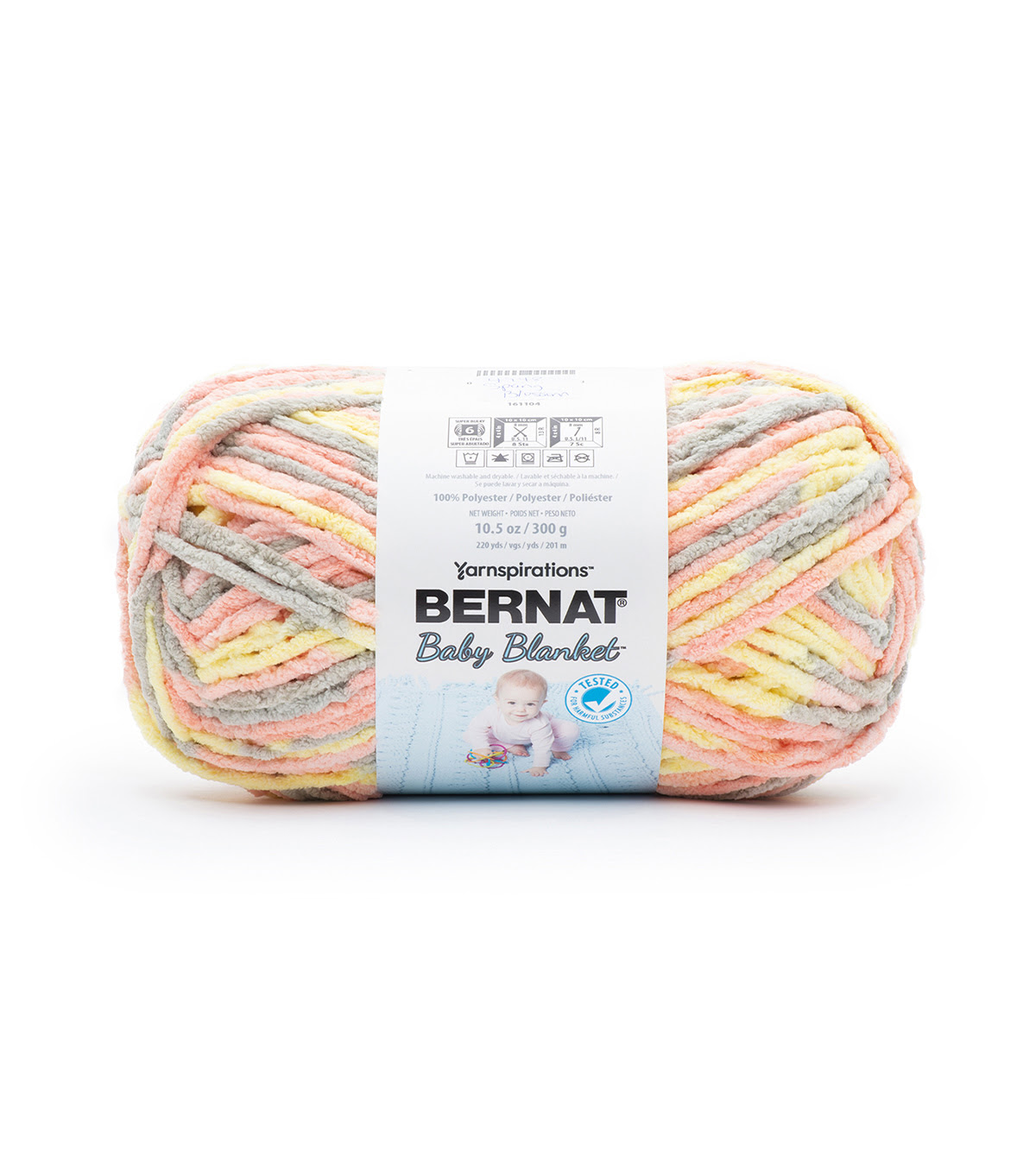 Bernat Baby Blanket Yarn White 3.5 oz