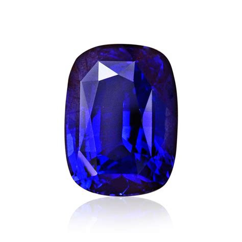 carat royal blue sri lankan sapphire cushion shape