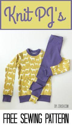 Free Knit Pajama Sewing Pattern | DIY Crush