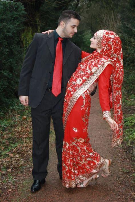Indian Saree Inspired   Muslim Couples ?   Muslim wedding