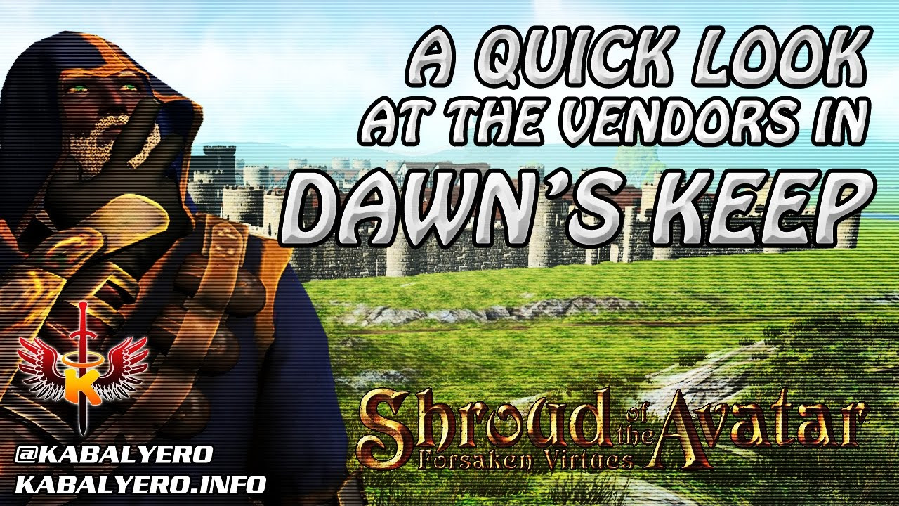 Shroud Of The Avatar Market Watch 💰 A Quick Look At The Player Vendors In Dawn's Keep (12/21/2016)