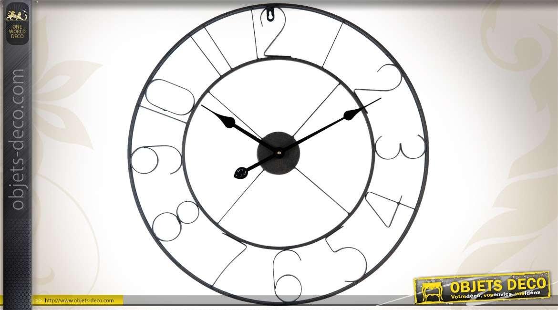 Horloge Murale Ronde En Metal O 60 Cm