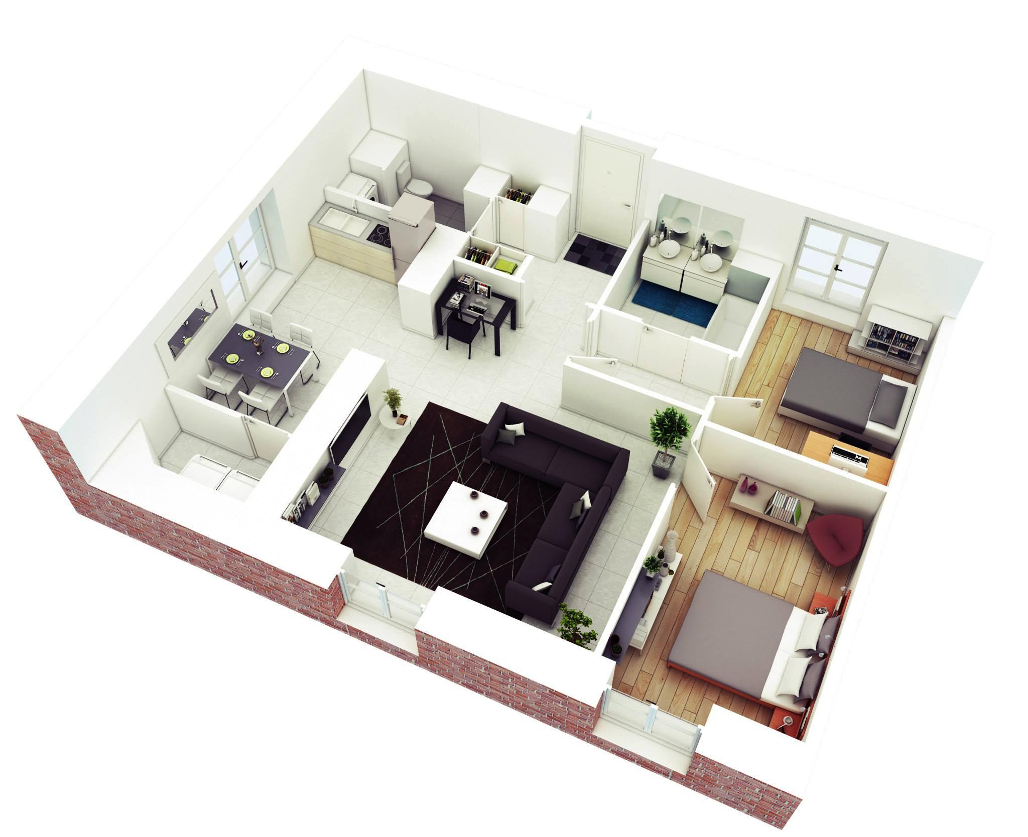 Simple Home Design Plans 3d Home Design