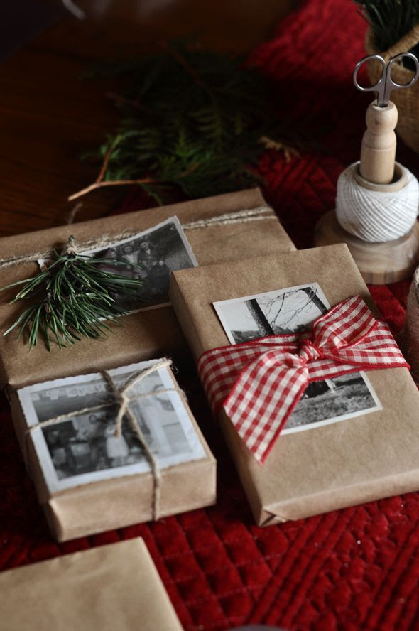brown paper christmas packages <3