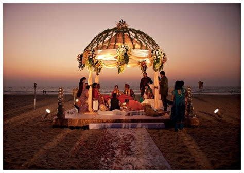 Sunset wedding on the beach in Goa, India. I'm not Indian
