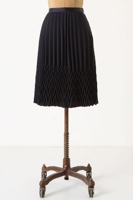 Anthropologie Broken Pleats Skirt
