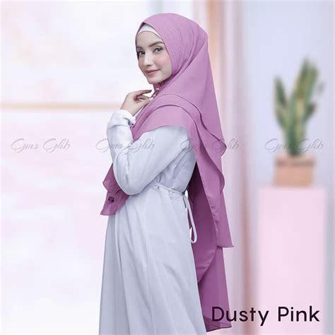 hijab syari khimar  layer emma cantik terbaru