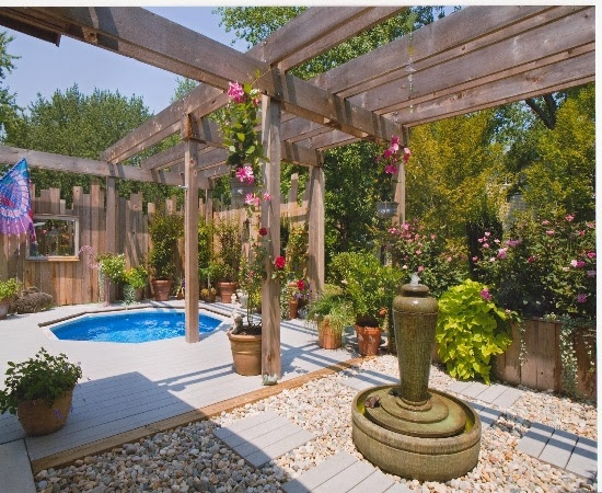 Backyard pool and spa ideas