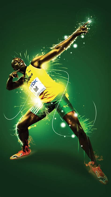 Usain Bolt Wallpaper for iPhone X, 8, 7, 6   Free Download