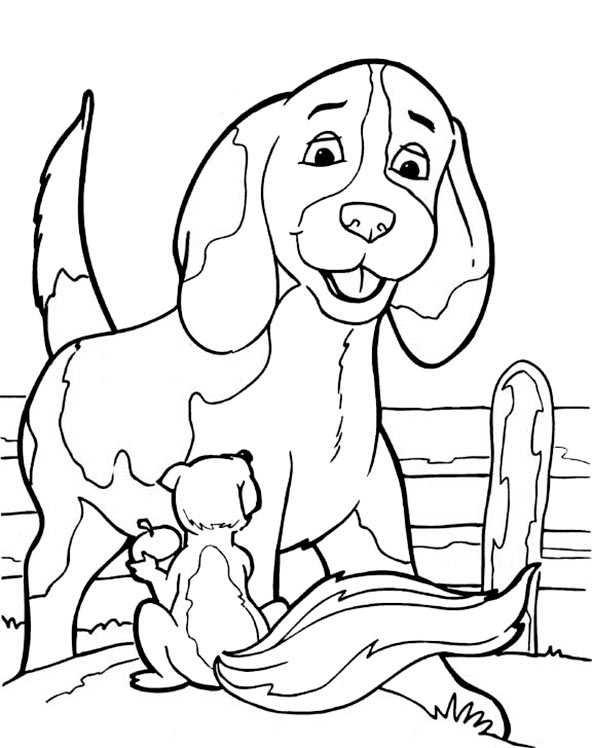 Ausmalbilder kostenlos Hunde 5 | Ausmalbilder Kostenlos