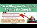 COMO APARECER NA PRIMEIRA PÁGINA DO GOOGLE! - ALGUMAS DICAS!