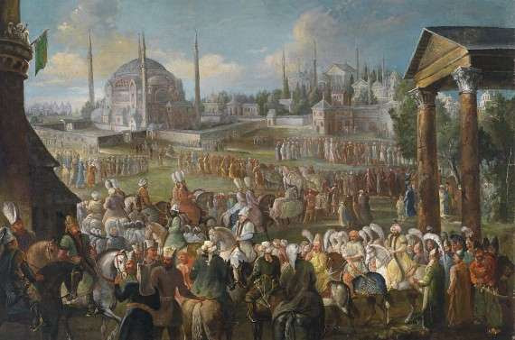 Jean Baptiste Vanmour Prozession des Sultans in Istanbul