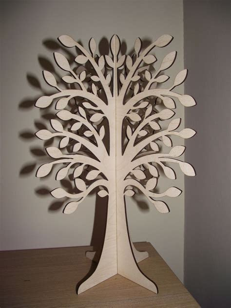 3D Slot  Together Wooden Wishing Tree   Paper Crafts