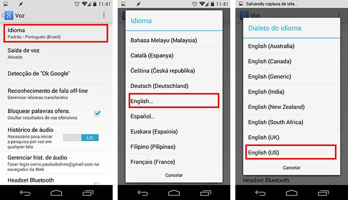 Troque o idioma para inglês dos EUA (Foto: Reprodução/Paulo Alves)