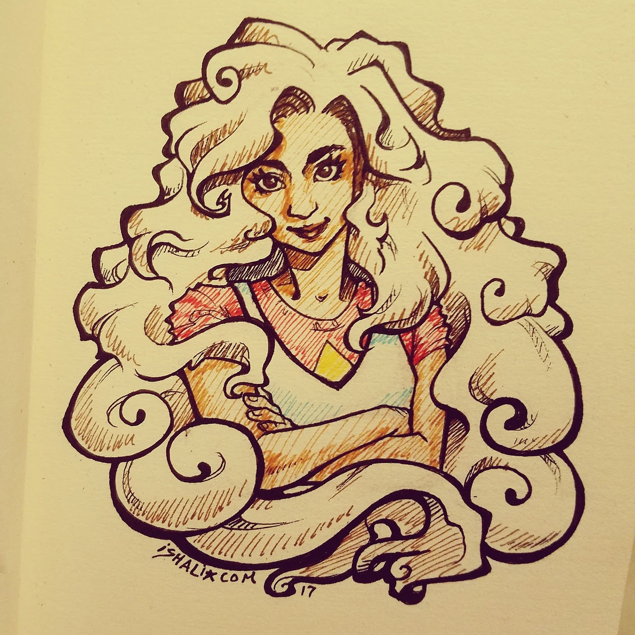 Started inktober late but I plan to catch up! Stevonnie from Steven Universe