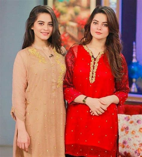 Recent click of Aiman Khan and Minal Khan in a morning