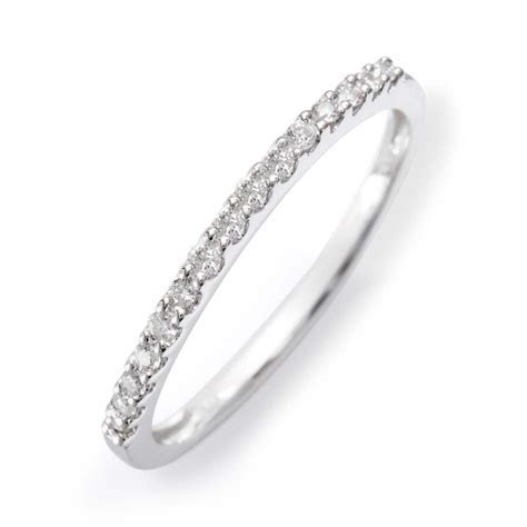 14K White Gold Diamond Thin Promise Ring in 2019   jewelry