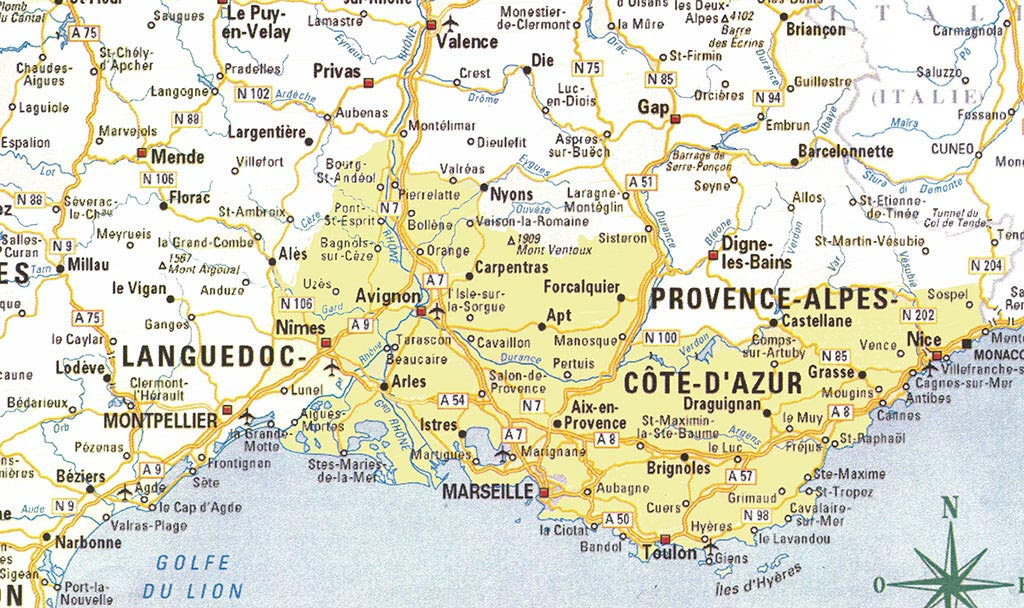 carte de france sud est espacoluzdiamantina: 25 Inspirant Carte De France Region Sud Est