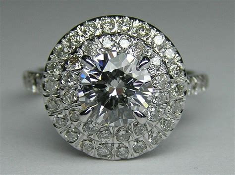 Hand Crafted Round Diamond Cathedral Double Halo Soleste