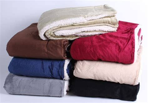 Large Sherpa Fleece Blanket   Promotional Blankets from