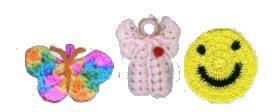 Brindes Grátis - Borboleta, Anjo ou Smiley de Crochê