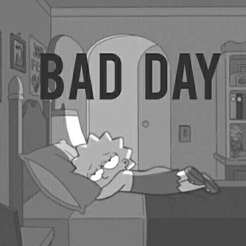 bad day, black and white, favorite, lisa simpson, sad ...