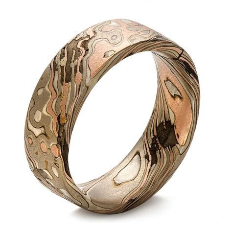 Custom Men's Mokume Wedding Band #100673