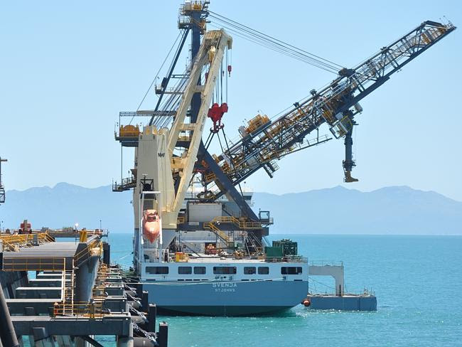 A refurbished shiploader at the Abbot Point Coal Terminal.