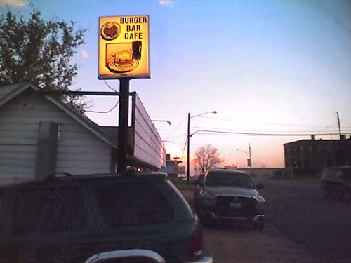 I found a burger joint with a pickup out front