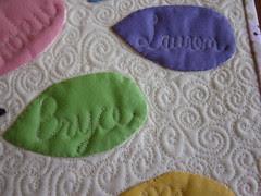 Teacher quilt - close up