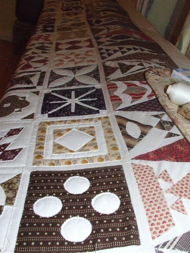 Dear Jane Row (really column 1) quilted