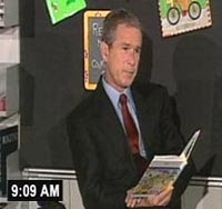 Bush reads 'My Pet Goat' on Sept. 11, 2001