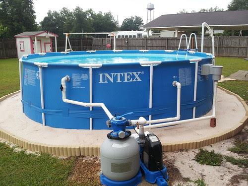 Landscaping Around Base Of Intex Ultra Frame Pools Trouble Free Pool