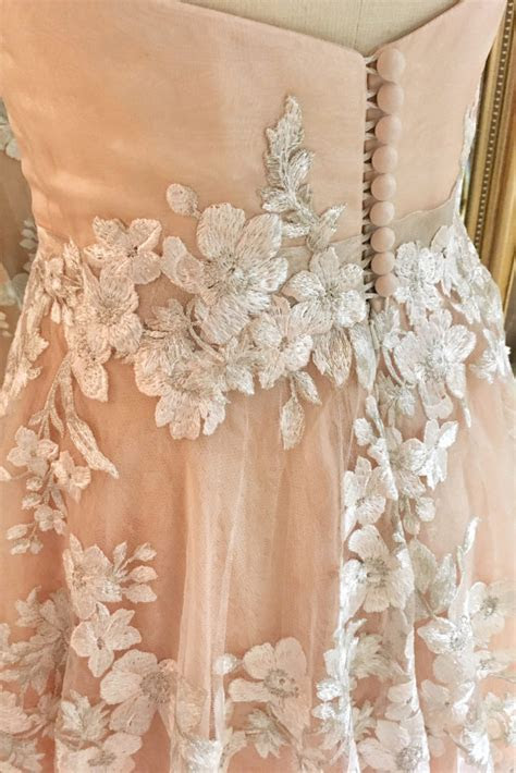 Embroidered Cherry Blossom Kimono Inspired Wedding Dress
