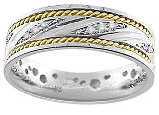 Kiran Diamond Rope Style Wedding Bands