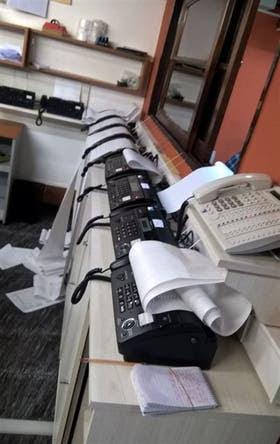 Los faxes con los extractos de las jugadas