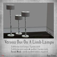 fucifino.verona out on a limb lamps