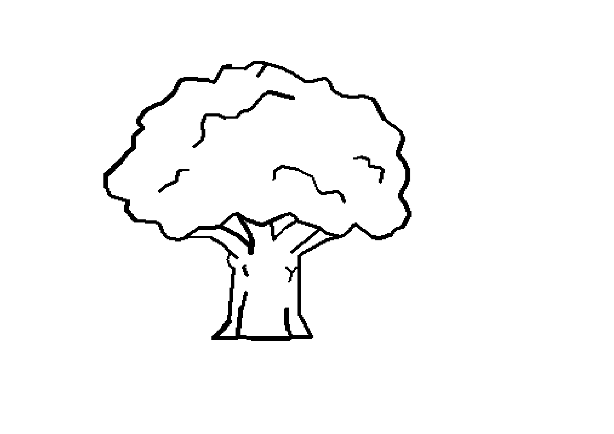 Free Black And White Tree Drawing Download Free Clip Art Free Clip