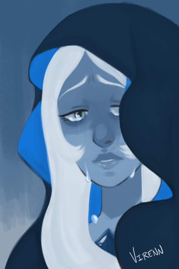 """What's the use of feeling, Blue? "" half hour speed paint"